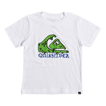 Quiksilver Little Boys' Wax Head Short Sleeve Tee, White