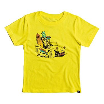 Quiksilver Little Boys' Full and Full Short Sleeve Tee, Buttercup