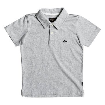 Quiksilver Little Boys' Everyday Sun Cruise Polo, Light Grey Heather