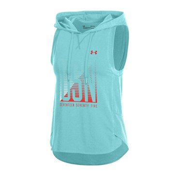 Under Armour Women's Charged Cotton Mesh USN Hooded Vest, Tropical Tide