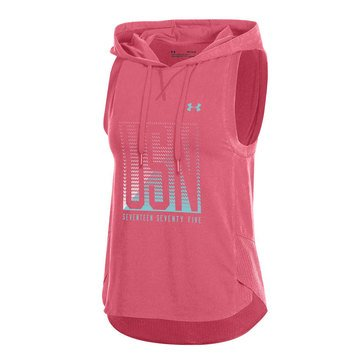 Under Armour Women's Charged Cotton Mesh USN Hooded Vest, Brilliance