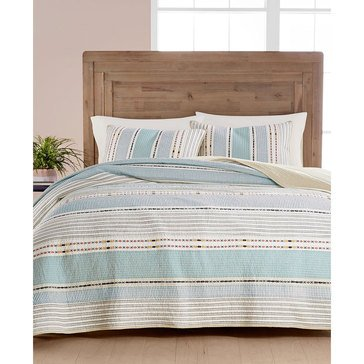 Martha Stewart Yarn Dye Earthtone Quilt - King