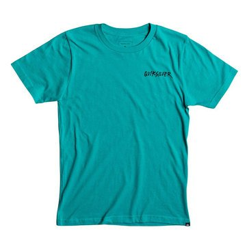 Quiksilver Big Boys'  Peace Shout Short Sleeve Tee, Green