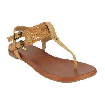 Mia Dianna Footbed T Strap Nude