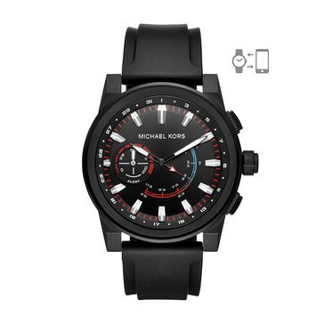 Michael Kors Men's Access Grayson Hybrid Black Smartwatch, 47mm