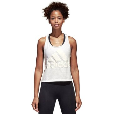 Adidas Women's Sport ID Cropped Tank in White