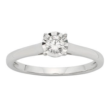 Diamond Miracle Solitaire Ring 1/5 cttw, 10K Gold