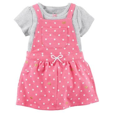 Carter's Baby Girls' 2-Piece Shortall Pink Jumper