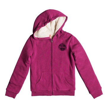 Roxy Big Girls' Long Sleeve Memorize Destiny Sherpa Zip Hoodie