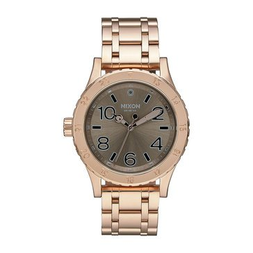 Nixon Women's 38-20 Rose Gold Tone/Taupe Watch, 38mm
