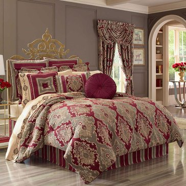 J Queen Crimson Red Comforter Set - King
