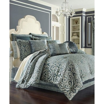 J Queen Sicily Teal Comforter Set - King