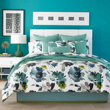 J by J Queen Midori Teal Comforter Set - Queen