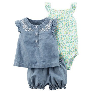 Carter's Baby Girls' 3-Piece Diaper Cover Set