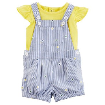 Carter's Baby Girls' 2-Piece Shortall Set