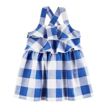 Carter's Baby Girls' Blue Checker Dress