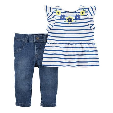 Carter's Baby Girls' 2-Piece Jegging Set