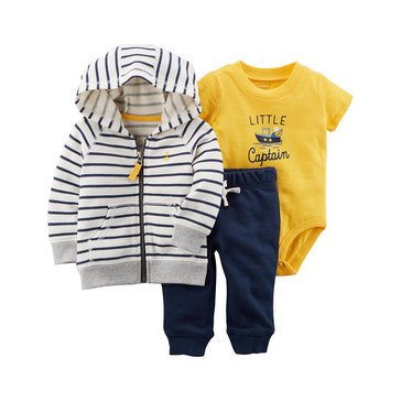 Carter's Baby Boys' 3-Piece Cardigan & Pant Set
