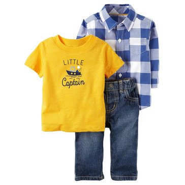 Carter's Baby Boys' 3-Piece Denim Pant Set