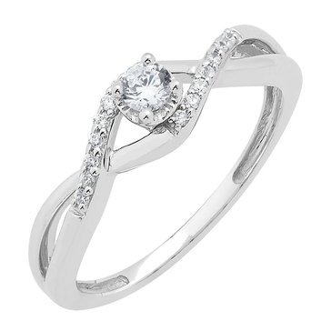 Diamond Miracle Plated Ring 1/6 cttw, Sterling Silver