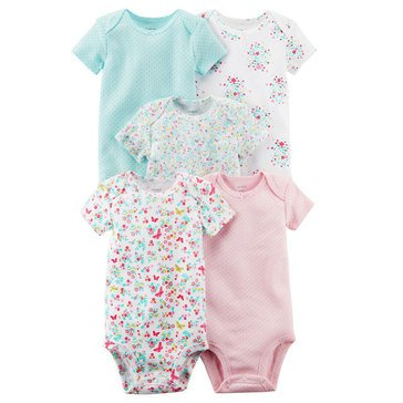 Carter's Baby Girls' 5-Pack Bodysuit Set