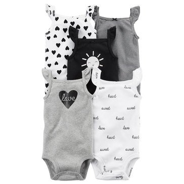 Carter's Baby Girls' 5-Pack Tank Bodysuits Set