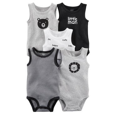 Carter's Baby Boys' 5-Pack Tank Bodysuit Set