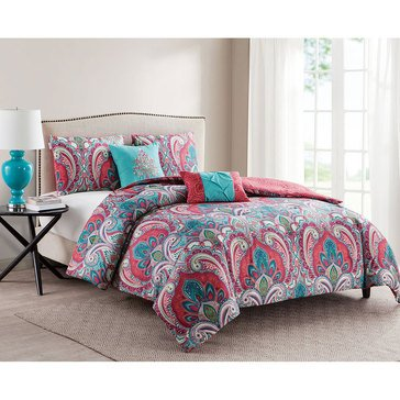VCNY Casa Re'al Multi 5-Piece Quilt Set - King