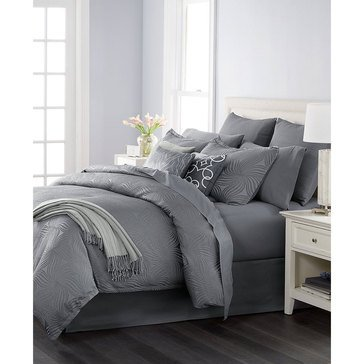 Martha Stewart Juliette Grey 14-Piece Comforter Set - Queen