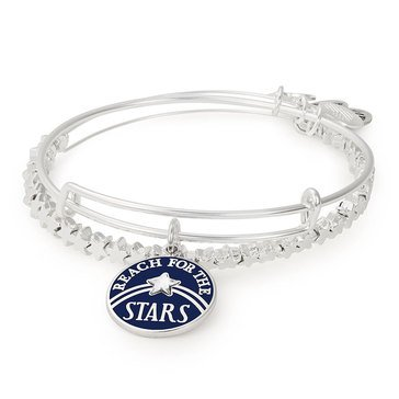 Alex and Ani Reach For The Stars Set of 2 Expandable Bangle, Silver Finish