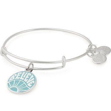 Alex and Ani Believe Expandable Bangle, Silver Finish