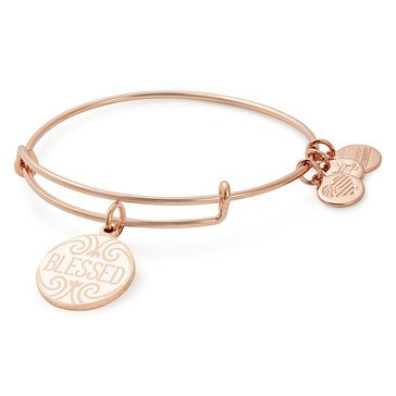 Alex and Ani Blessed Expandable Expandable Bangle, Gold Finish