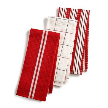 Martha Stewart Collection Red Kitchen Towels, Set of 3