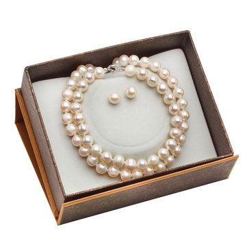 Freshwater Pearl 3-Piece Set, 6.5mm-7mm, Sterling Silver