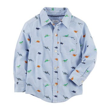 Carter's Toddler Boys' Dino Woven Button Up Tee