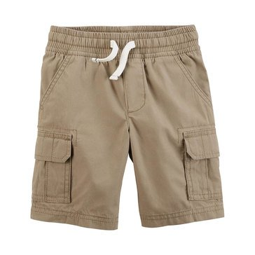 Carter's Toddle Boys' Cargo Pull On Short Khaki
