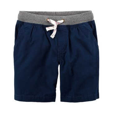 Carter's Toddler Boys' Ribbed Waistband Short, Navy