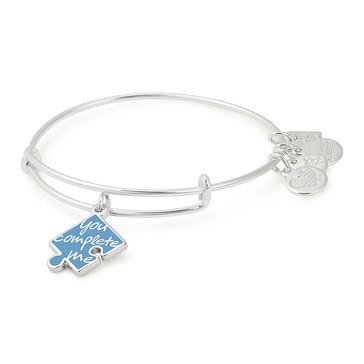 Alex and Ani Charity By Design You Complete Me Expandable Expandable Bangle, Silver Finish