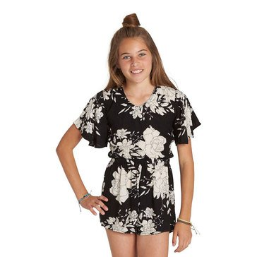 Billabong Big Girls' Night Flower Woven Romper