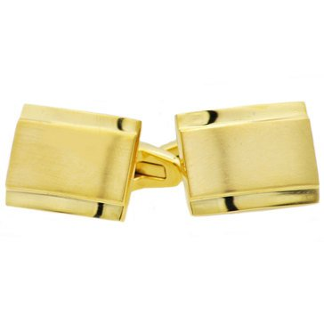Blackjack Men's Gold Plated Stainless Steel Rectangle Cufflinks