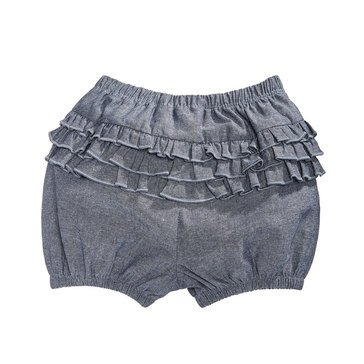 First Impressions Baby Girls' Chambray Ruffle Bloomer