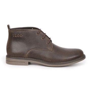 Izod Cally Men's Casual Chukka Boot- Dark Brown Smoke