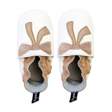 Tommy Tickle Baby Girls' White/Gold Shoes, 18-24 Months