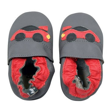 Tommy Tickle Baby Boys' Race Car Shoes, 0-3 Months