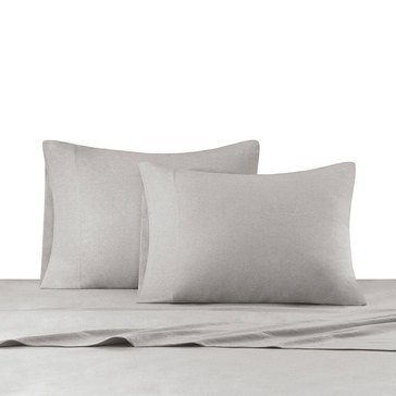Ink & Ivy Heathered Jersey Knit Sheet Set, Grey - Twin