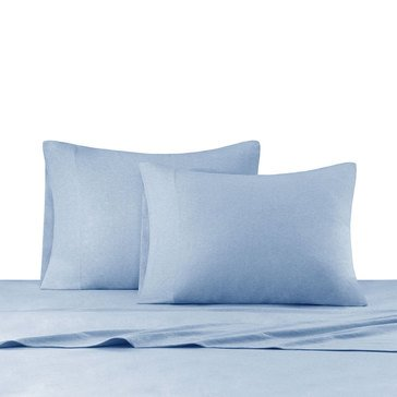 Ink & Ivy Heathered Jersey Knit Sheet Set, Blue - Twin