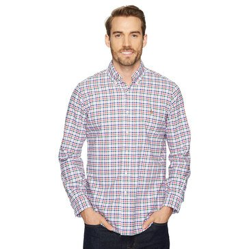 Polo Ralph Lauren Men's Long Sleeve Plaid Oxford Sport Shirt