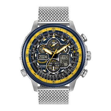 Citizen Men's Eco-Drive Blue Angels Stainless Steel Mesh Bracelet Watch, 48mm