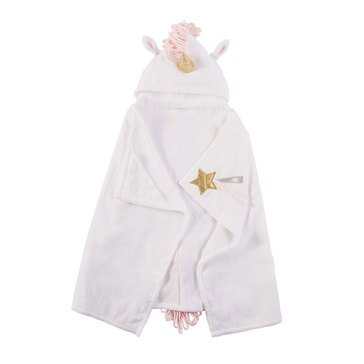 Mudpie Baby Girls' Unicorn Hooded Towel
