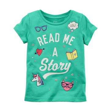 Carter's Toddler Girls' Reading Tee